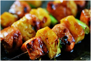 Salmon Teriyaki Skewers Recipe